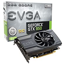 EVGA GeForce GTX 950 2GB GAMING, Silent Cooling Graphics Card 02G-P4-2951-KR
