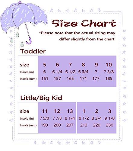 Pictures of MOFEVER Toddler Girls Kids Rain Boots Waterproof MFULP18BPUR10 3