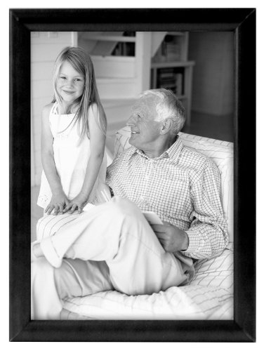 Bullnose Tabletop Picture Frame - MCS 8x10 Inch Fashion Bullnose Frame, Black (40941)