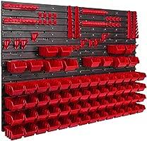 Extra Starke Wandplatten 28 stck Werkstattregal Lagerregal Werkstattwandregal Lagersystem Wandregal 576 x 780 mm Regal Erweiterbar Werkzeughalterungen Stapelboxen Sch/üttenregal Sichtlagerk/ästen