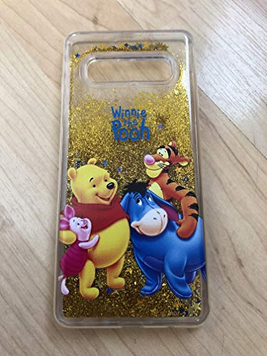 (Galaxy S10 Plus Case, Winnie The Pooh Sparkle Liquid Glitter Quicksand Case For Samsung Galaxy S10 Plus)