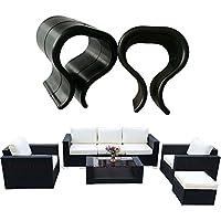 Do4U 6 pcs Outdoor Patio Wicker Furniture Alignment Sofa Rattan Chair Sofa Fasteners Clip Sectional Connector - non slip (Small(1.74 inches),6Pcs)