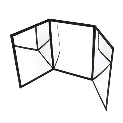 Sharplace Espejo Practicante de 3 Vías para Trucos de Magia Accesorios para Magos Illusion de Escenario: Juguetes y juegos