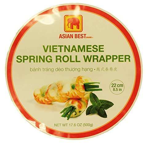 Asian Best Vietnamese Premier Spring Roll Rice Wrapper (3 Packs) Vietnamese Rice Paper Rolls