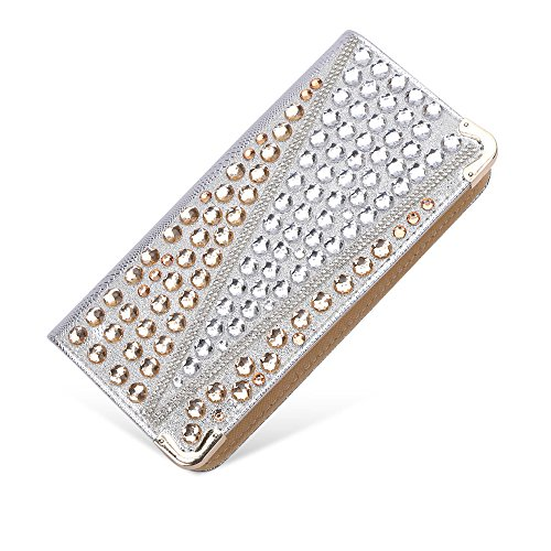 Sotica - Cartera de mano para mujer S gold&silver-circular diamond