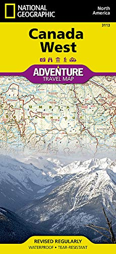 Canada West (National Geographic Adventure - Canadian Map