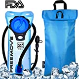 FREEMOVE 2 Liter Hydration Bladder & Cooler Bag Keeps Drink Cool & Protects Your Bladder | Durable Leak Proof Water Reservoir | Large Opening | Tasteless BPA Free | Quick Release Tube & Shutoff Valve