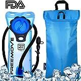 2L Hydration Pack Water Bladder & Cooler Bag | KEEPS DRINK COOL & PROTECTS YOUR BLADDER | Durable Leak Proof Water Reservoir | Large Oppening | Tasteless BPA Free | Quick Release Tube & Shutoff Valve