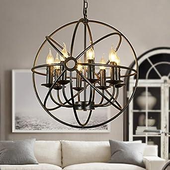 BAYCHEER große Lampe E14 Globe Hängeleuchte Käfig Industrielampe ...