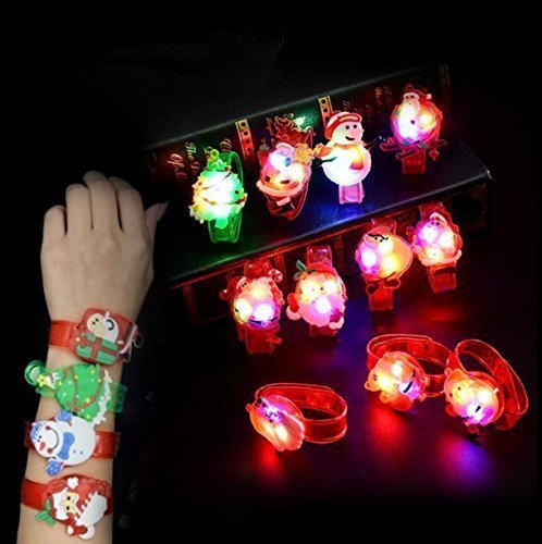 Items That Start With The Letter O (UChic 8PCS Led Watch Toy Boys Girls Flash Wrist Band Party Christmas Decoration Glow Luminous Bracelet Gifts Toys At Style Randomly)