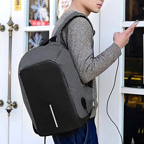 Laptop Backpack, Youpeck Business Laptop Bag with USB Charge Port Anti-Theft Water Resistant Casual School Bookbag for College Travel Backpack for Macbook Pro 15/ 15.6-Inch Laptop Ultrabook -Dark Grey Photo #6