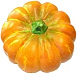 Gresorth 13'' Big Artificial Ornament Pumpkin Fake Cushaw for Fall Harvest Decorative - 1 PC