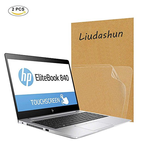HP EliteBook 840 G5 Screen Protector,HD Clear LCD Anti-Scratch Anti-Fingerprints Guard Film For 14'' HP EliteBook 840 G5 Laptop(2-pack) by Liudashun