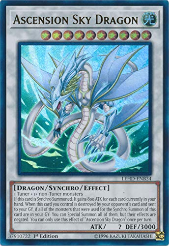 Yu-Gi-Oh! - Ascension Sky Dragon - LEHD-ENB34 - Ultra Rare - 1st Edition - Legendary Hero Decks - Aesir Deck