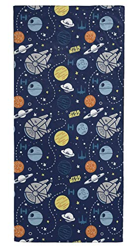 (Jay Franco Star Wars Kids Bath/Pool/Beach Towel and Drawstring Backpack Set - Super Soft & Absorbent Fade Resistant Cotton Towel, Measures 28