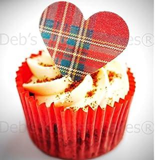 Scotland Scottish Tartan reds Edible Cake Topper Wafer Icing Cake Decoration