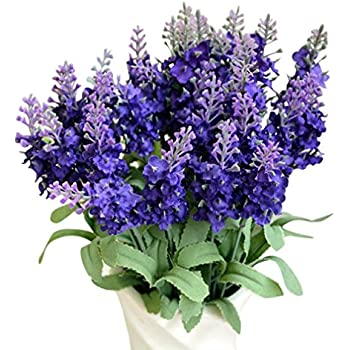 Conjugal Bliss 10PCS Lavender Hyacinth Bluebells And Plastic Silk Cloth Artificial Flowers For Home Party Hotel Shops And Wedding Decoration Fake Flowers (purple)