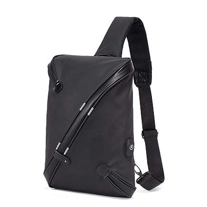 5769d44497de Amazon.com: Men Chest Bag Waterproof Anti Theft Reflective USB ...
