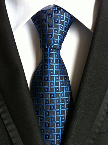 WeiShang Lot 6 PCS Classic Men's 100% Silk Tie Necktie Woven JACQUARD Neck Ties (Style 14) by WeiShang (Image #4)