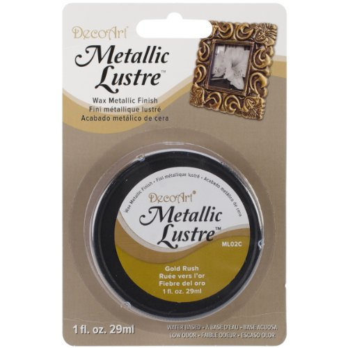 DecoArt ML02C-28 Metallic Lustre Wax, 1-Ounce, Gold Rush ()