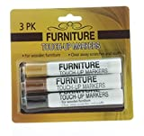 3 Pk. Furniture Markers Touch-Up Wood Scratches Scuffs Fill Repair Stain Restore