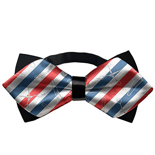 YEAHSPACE Men's Barber Us Flag BowTie Gift Pre-tie Party Teen Oufits ()