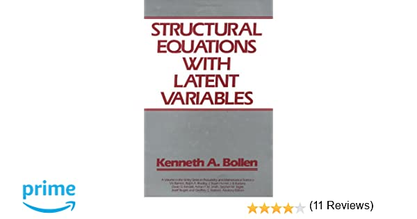 Amazon.com: Structural Equations with Latent Variables ...