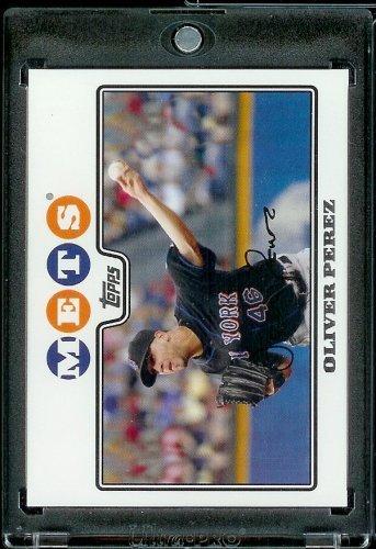(2008 Topps # 334 Oliver Perez - New York Mets - MLB Baseball Trading)