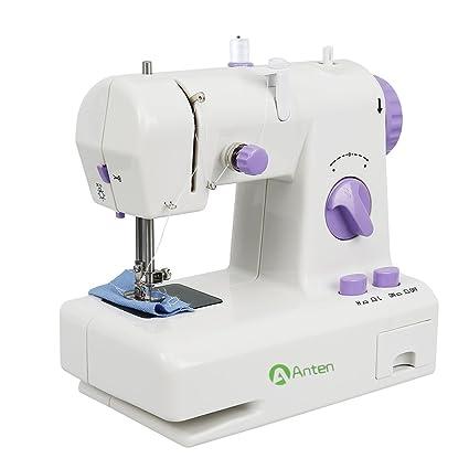 Anten® - Mini máquina de Coser ABS con pequeña LED Twining. Línea automática +