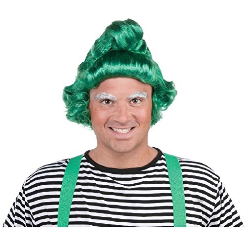 Umpa Lumpa Costume Wig Adult Funny Halloween Fancy Dress ()