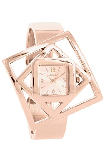 luzaka u2013 Adriana u2013 Costume Jewellery Ladies Rose Gold Watch Women Watches  sc 1 st  Amazon UK & luzaka - Adriana - Costume Jewellery Ladies Rose Gold Watch Women ...