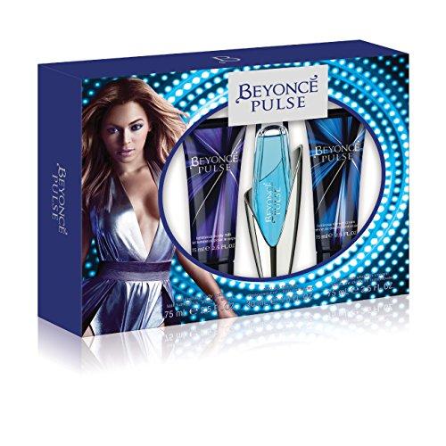 Beyonce Pulse 3 Piece Gift Set (1.0 Ounce Eau De Toilette Plus 2.5 Ounce Shower Gel Plus 2.5 Ounce Body (Obsession Gift Set Spray)
