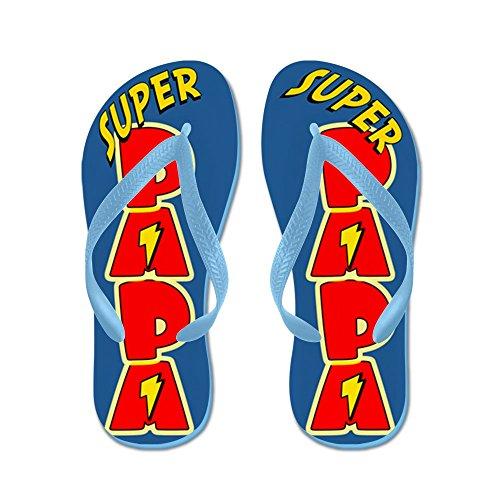 CafePress Super Papa - Flip Flops, Funny Thong Sandals, Beach Sandals Caribbean Blue