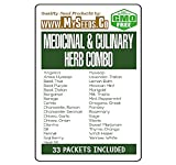 32 x Medicinal & Culinary Herbs Seeds COMBO KIT- from Angelica to Yarrow White Seeds - By MySeeds.Co (32 x Medicinal Herbs Kit)