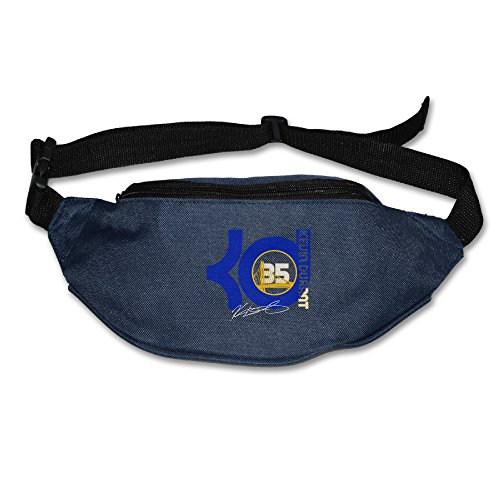 AUSIN Unisex Golden State #35 Kevin Player Hiking Waist Bum Bag Navy