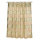 Gold Shower Curtain Popular Bath Shower Curtain, Sinatra Collection, 70
