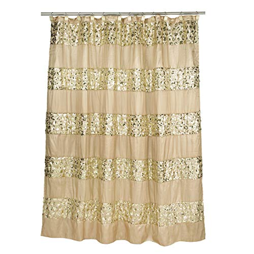 Popular Bath Sinatra Fabric Shower Curtain, Champagne with G