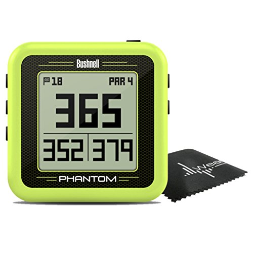 Bushnell Phantom Compact Handheld Golf GPS with Built-In Golf Cart Magnet and Wearable4U towel (Green) by Wearable4u