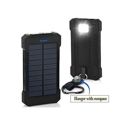 Amazon.com: Cargador Solar 10400mAh Cargador de Batería ...