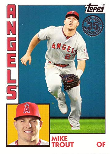 1984 Mike - 2019 Topps 1984 Topps Design #T84-41 Mike Trout Baseball Card