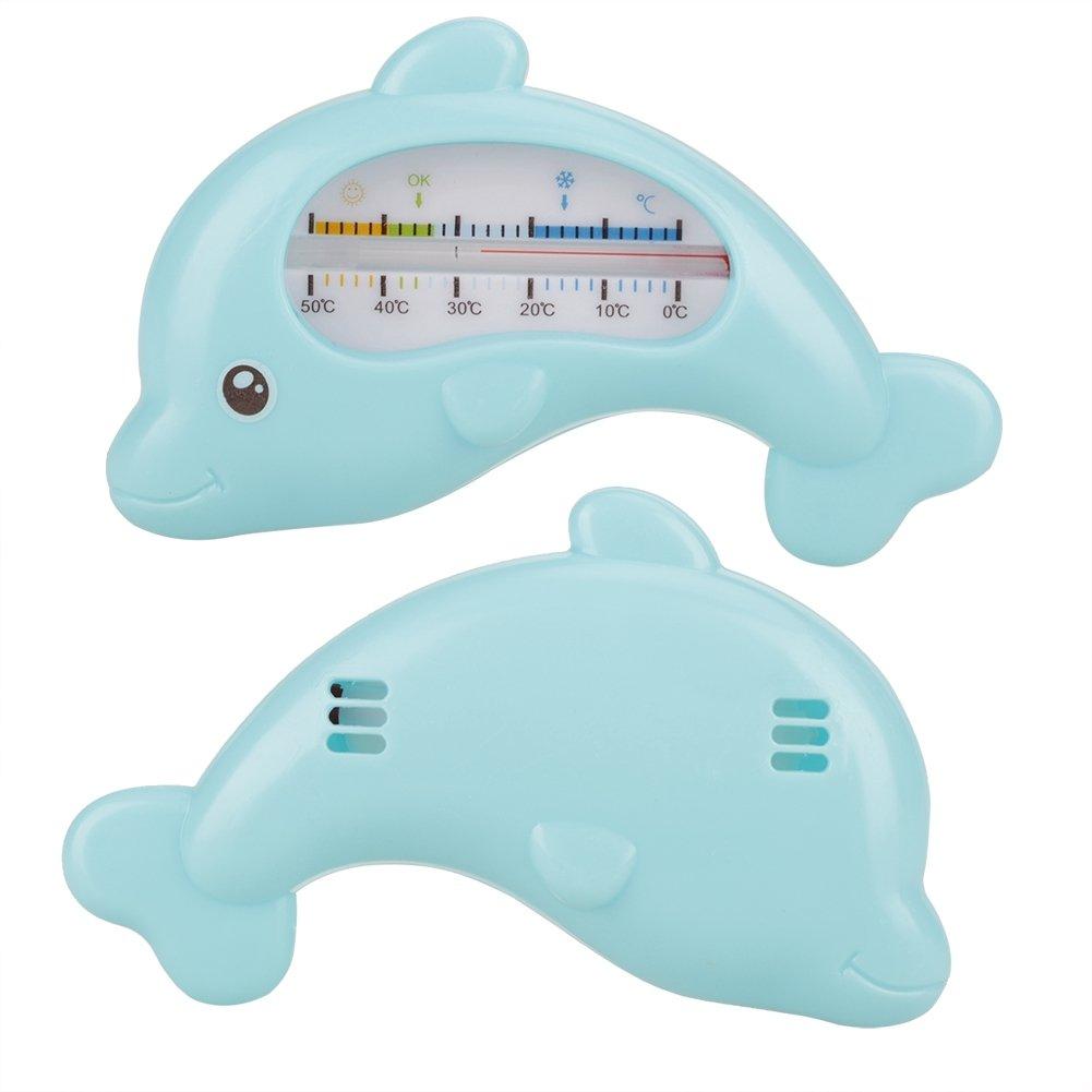 Haofy baby wasser thermometer kleinkinder baden niedlichen tier thermometer sicherheit bad pflege Blau