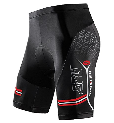 sponeed Padded Shorts Men Cyclist Pants Tights Bicycle Riding Shorts Reflective Asia L/US M Multi