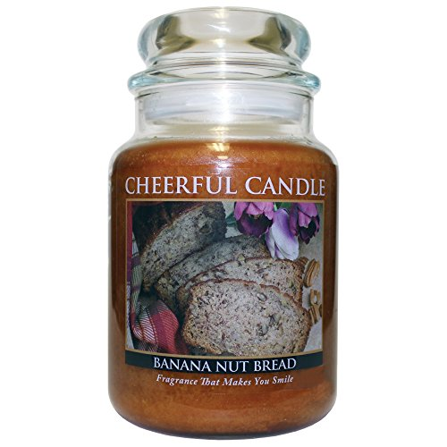 CC Home A Cheerful Giver Banana Nut Bread Jar Candle, 24-...