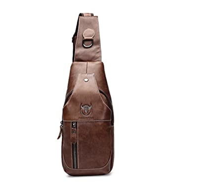 7e9ba5fddb Fashion Genuine Leather Crossbody Bags men casual messenger bag Small Brand  Designer Male Shoulder Bag (