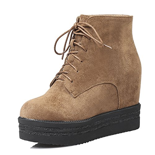 HSXZ Women's Shoes Nubuck leather Winter Fall Ankle Strap Fashion Boots Bootie Boots Wedge Heel Round Toe Booties/Ankle Boots for Office ZHZNVX