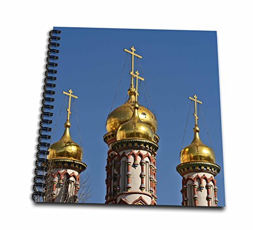 3dRose Alexis Photography - Architecture - Golden Domes and Crosses of an Ancient Russian Church, Blue Sky - Drawing Book 8 x 8 inch (db_286559_1) ()
