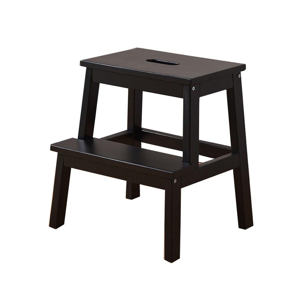 Escalera Plegable madera Taburete de la escalera del hogar de la madera sólida movimiento multifuncional de doble uso Los estantes cambian la silla de los zapatos (longitud: los 38CM, anchura: los 25C