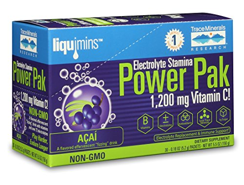 Cheap Trace Minerals Research Electrolyte Power Pak Acai Berry, 30 Count, 5.5 Ounce