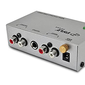 Pyle Phono Turntable Preamp - Mini Electronic Audio Stereo Phonograph Preamplifier With Rca Input, Rca Output & Low Noise Operation Powered By 12 Volt Dc Adapter (Pp444) 1