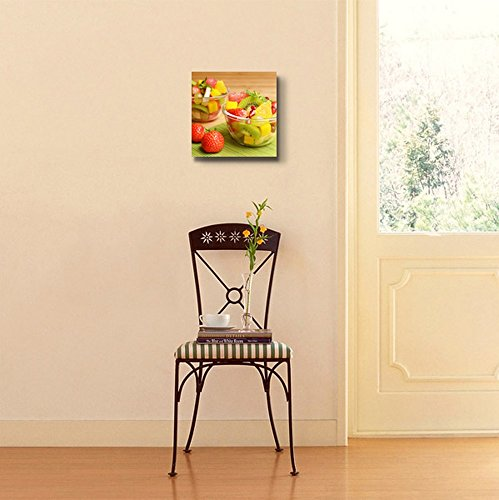 Colorful Healthy Fruit Salad in The Glass Bowls Wall Decor